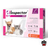 Инспектор для собак до 4 кг Капли на холку для собак и кошек 0.5-2 кг Мини, 0.4 мл