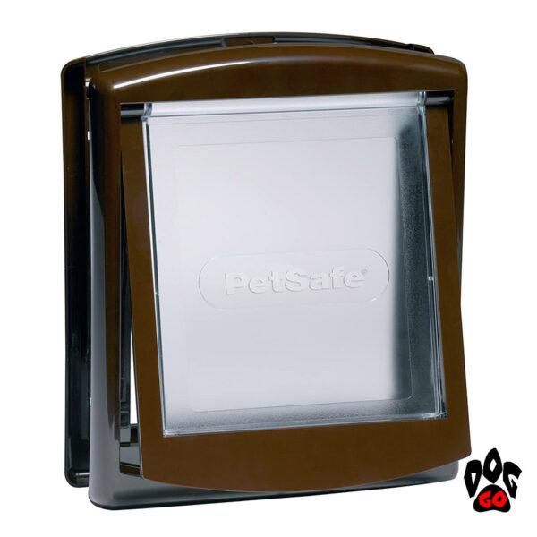 Дверь для собак CROCI (до 7 кг, коричневый пластик, 236x198мм) - 2