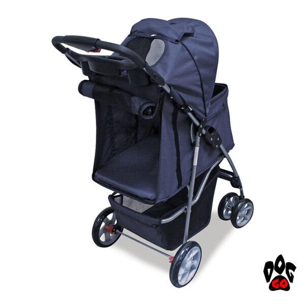 Коляска для собак и кошек CROCI + дождевик в комплекте (70х46х100см) - 2
