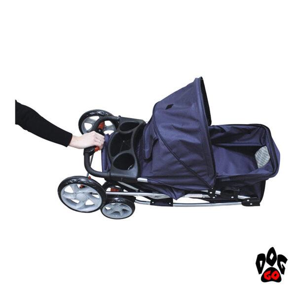 Коляска для собак и кошек CROCI + дождевик в комплекте (70х46х100см) - 3
