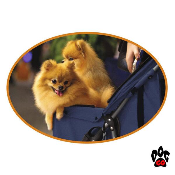 Коляска для собак и кошек CROCI + дождевик в комплекте (70х46х100см) - 4