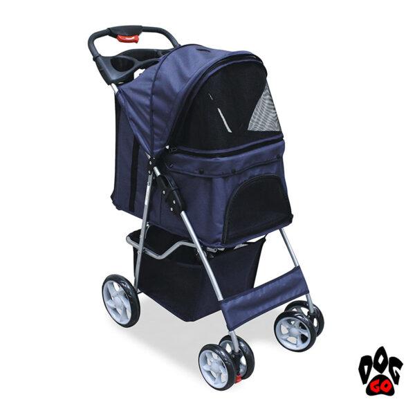Коляска для собак и кошек CROCI + дождевик в комплекте (70х46х100см)