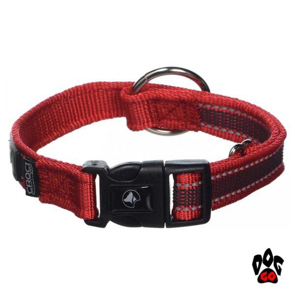 Ошейник для собак CROCI HIKING ANTISHOCK, регулируемый, нейлон, красный