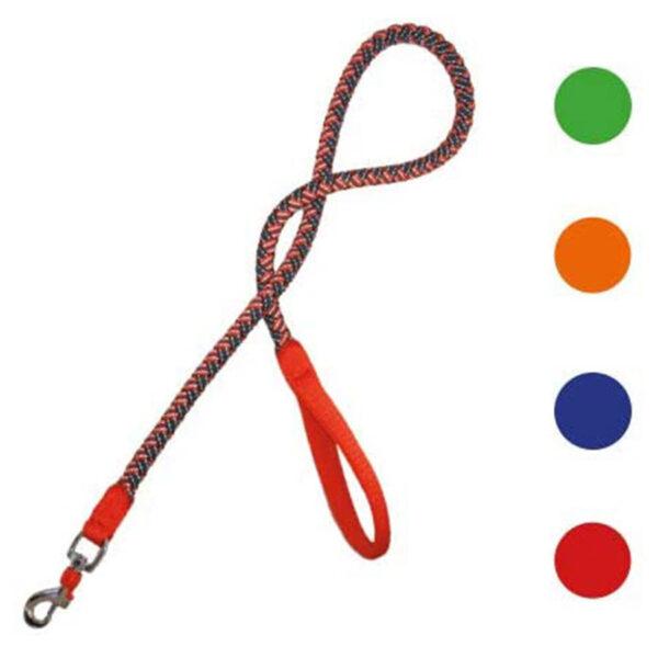 Поводок плетёный прорезиненный CROCI для собак HIKING ENDURANCE, нейлон, 120см (1-1.5см), красный