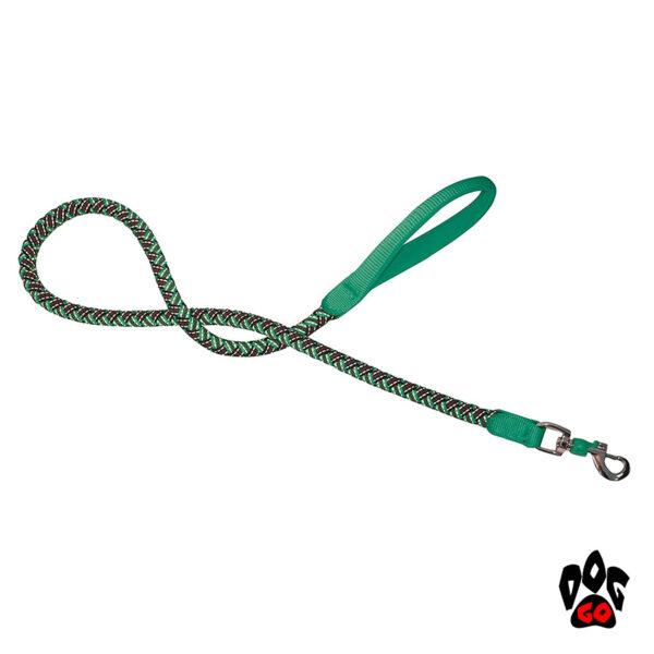 Поводок плетёный прорезиненный CROCI для собак HIKING ENDURANCE, нейлон, 120см (1-1.5см), зеленый