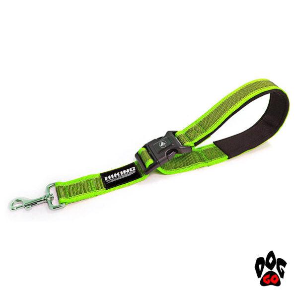 Поводок регулируемый для собак CROCI HIKING ANTISHOCK VENTURE, прорезиненный нейлон, 38-50см (4см), салатовый