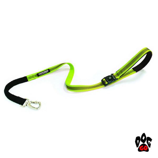 Регулируемый поводок для собак CROCI HIKING ANTISHOCK VENTURE (прорезиненный нейлон) 1,5-2,5см х 120см, салатовый