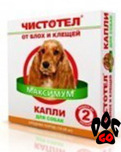 Капли Чистотел МАКСИМУМ от блох (д/средних пород собак) 2 пипетки