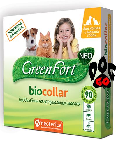 Био ошейник от блох для кошек и мелких собак Green Fort 35 см