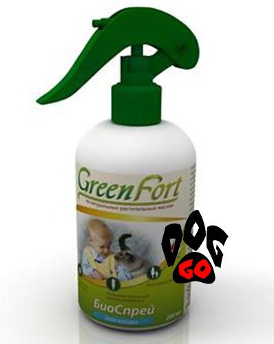 Green Fort Биоспрей от блох для кошек 200 мл