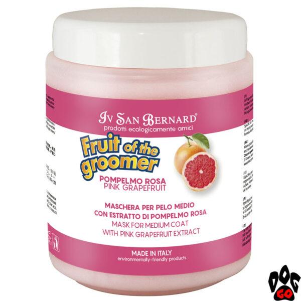 ИВ СЕН БЕРНАР (Iv San Bernard) Маска Pink Grapefruit для средней шерсти, с грейпфрутом и витамином В6 (1000 мл)