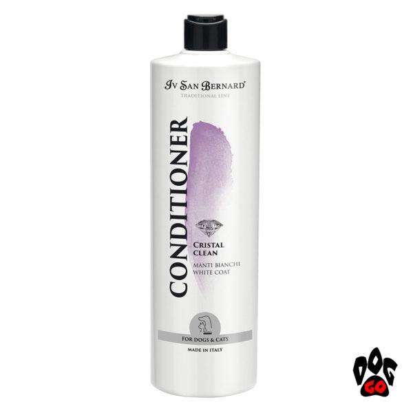 """Кондиционер для белых собак и кошек IV SAN BERNARD """"Cristal Clean"""" для белой шерсти. 1литр"""