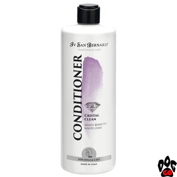 """Кондиционер для белых собак и кошек IV SAN BERNARD """"Cristal Clean"""" для белой шерсти 500 мл"""