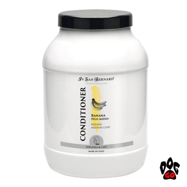 """Кондиционер для жёсткой шерсти собак и кошек IV SAN BERNARD """"Banana"""", с бананом, 3литра"""
