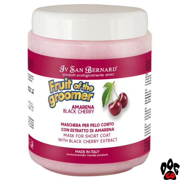 """Маска IV SAN BERNARD """"Black Cherry"""" для короткой шерсти, с протеинами шелка и черной вишней 1 литр"""