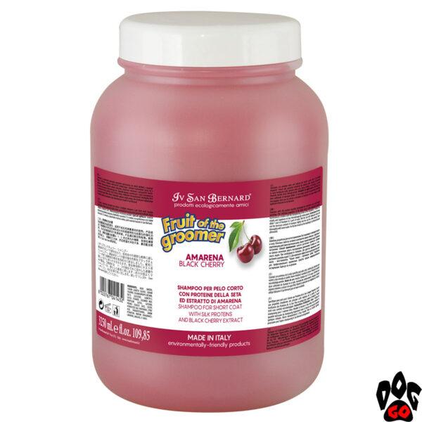 """Маска IV SAN BERNARD """"Black Cherry"""" для короткой шерсти, с протеинами шелка и черной вишней (3000 мл)"""