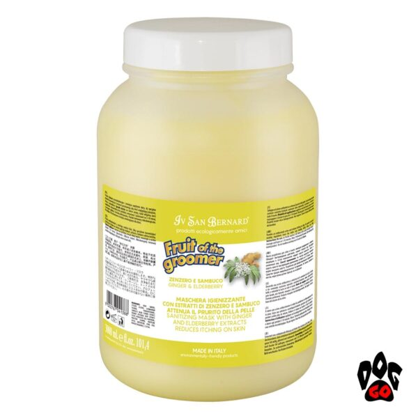 Маска для собак от зуда и перхоти IV SAN BERNARD антибактериальная, с имбирём и бузиной, 1литра