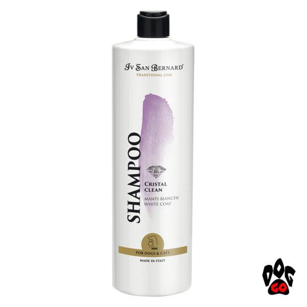 """Отбеливающий Шампунь для собак и кошек IV SAN BERNARD """"Cristal Clean"""" для белой шерсти, 1литр"""