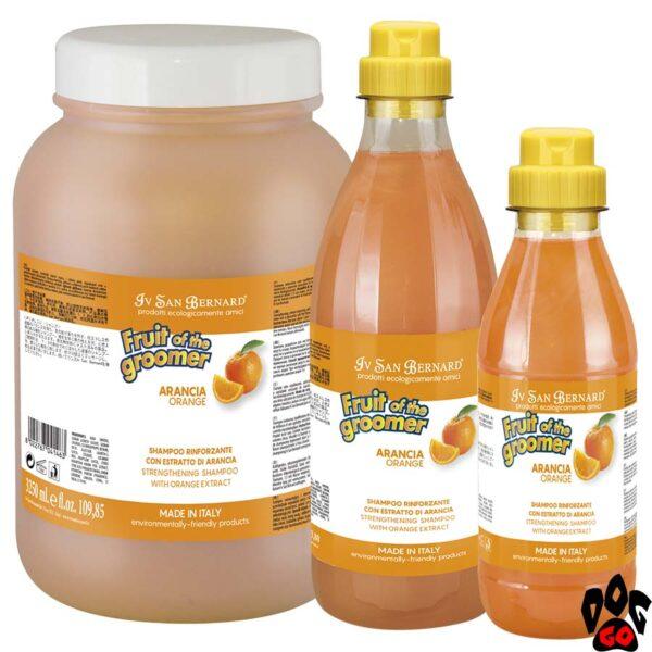 """Шампунь для собак от выпадения шерсти IV SAN BERNARD """"Orange"""" с апельсином, (500 мл, 1000 мл, 3250 мл)"""