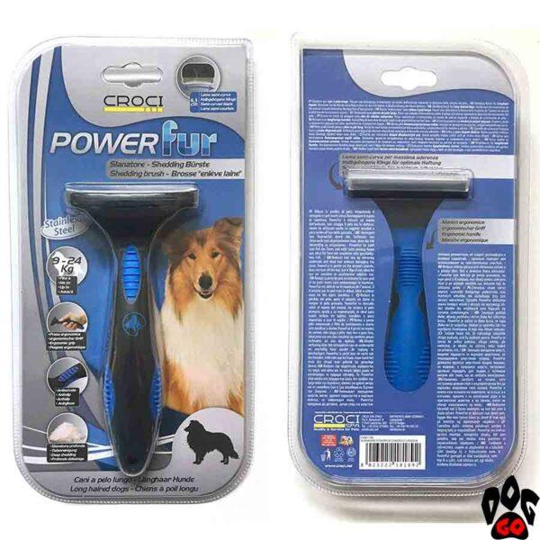 """Фурминатор для длинношерстных собак средних пород CROCI """"POWERfur"""" М (9-24 кг) 6.5 см"""