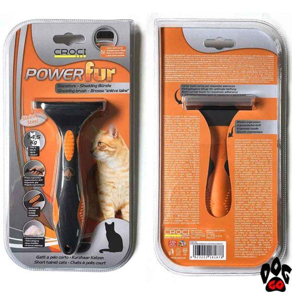 """Фурминатор для кошки с короткой шерстью CROCI """"POWERfur"""" М (более 4.5 кг) 6.5 см"""