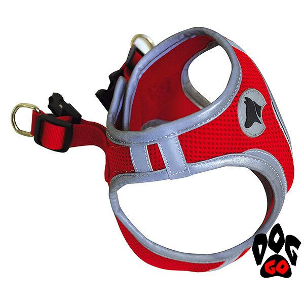 Шлея для собак CROCI HIKING REFLECTIVE светоотражающая, регулируемая (нейлон) S-XL (34-58см)