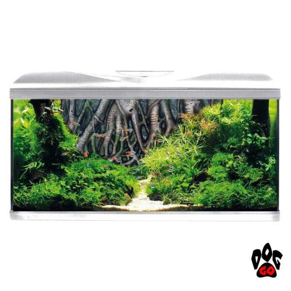 Аквариум AMTRA SYSTEM 80 LED WHITE на 85 литров (фильтр, помпа 520л/ч, нагр-ль 100Вт, LED, фон корни)