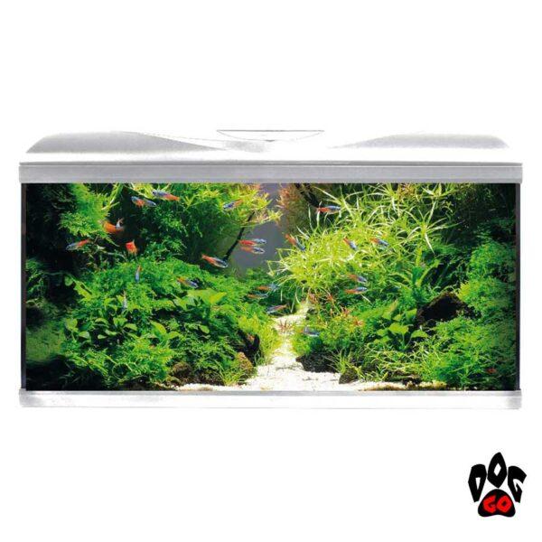Аквариум AMTRA SYSTEM 80 LED WHITE на 85 литров (фильтр, помпа 520л.ч, нагр-ль 100Вт, LED 3 цвета)