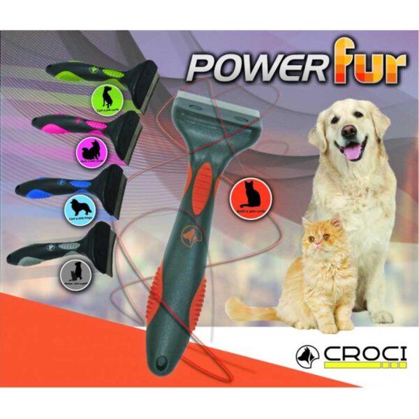 Инструменты для груминга собак CROCI POWERFUR фурминаторы
