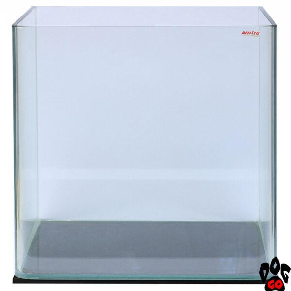 Морской нано-аквариум на 90 литров AMTRA NANOTANK, панорамный (45x45x45 см), с крышкой, стекло 6 мм, пустой