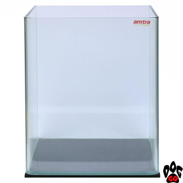 Панорамный аквариум AMTRA NANOTANK 20 на 18 литров (25x25x30 см), стекло 5 мм - без покровного стекла