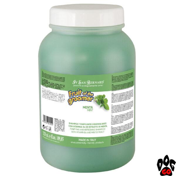 Профессиональный Шампунь для собак IV SAN BERNARD Mint, с мятой и Витамином В6, 3.25литра