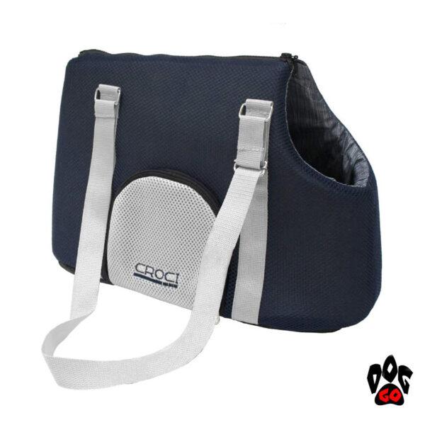Сумка для собак и кошек CROCI Odette, синий/голубой, 40х20х30см-1