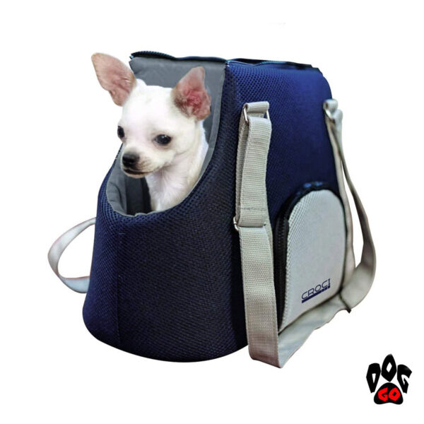Сумка для собак и кошек CROCI Odette, синий/голубой, 40х20х30см-2