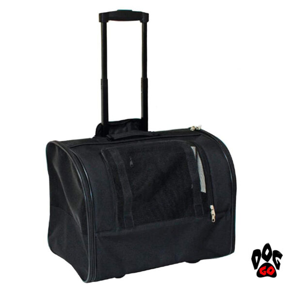 Сумка для собак на колесах CROCI Trolley Jolie, черная, 44x28x33см-1