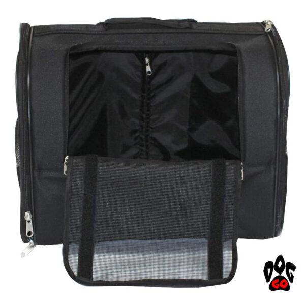 Сумка для собак на колесах CROCI Trolley Jolie, черная, 44x28x33см-2