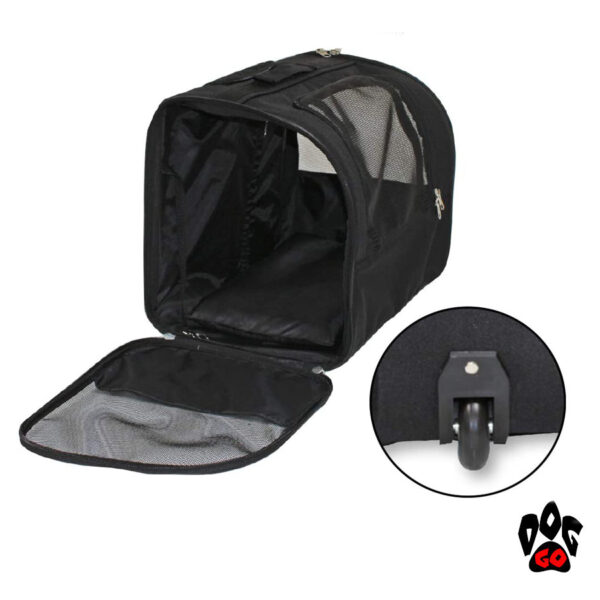 Сумка для собак на колесах CROCI Trolley Jolie, черная, 44x28x33см-4