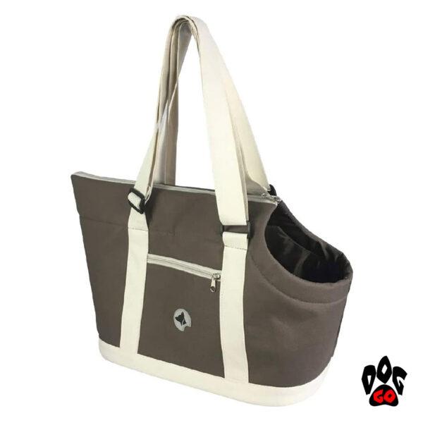 Сумка-переноска для собак и кошек CROCI Giselle 49х23х31см, коричневый+бежевый