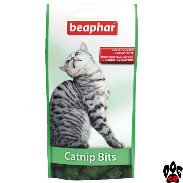 "БЕАФАР (BEAPHAR) Подушечки ""Кэт Нип Битц"" - лакомство для кошек с кошачьей мятой, 150 г"