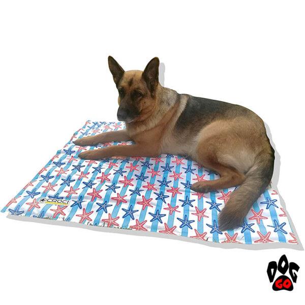 """CROCI охлаждающий коврик для собак и кошек """"Морские звёзды"""" 50x40 см"""