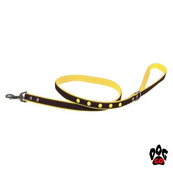 CROCI Поводок для маленьких собак FLUO JEANS, кожзам/джинс, 1 метр*1.6см-1
