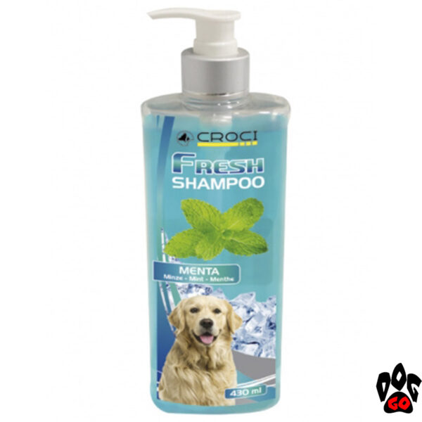 CROCI Шампунь для собак FRESH с мятой, освежающий, 430 мл