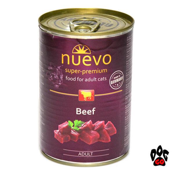 Консервы для кошек NUEVO ADULT с говядиной, 400 г - 2