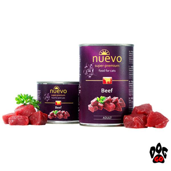 Консервы для кошек NUEVO ADULT с говядиной, 400 г