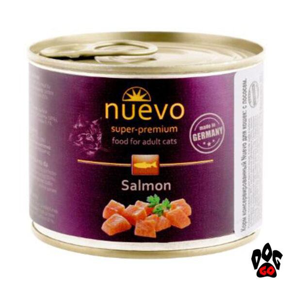 Консервы для кошек NUEVO ADULT Salmon с лососем, 200 г - 1