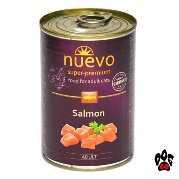 Консервы для кошек NUEVO ADULT Salmon с лососем, 400 г - 2
