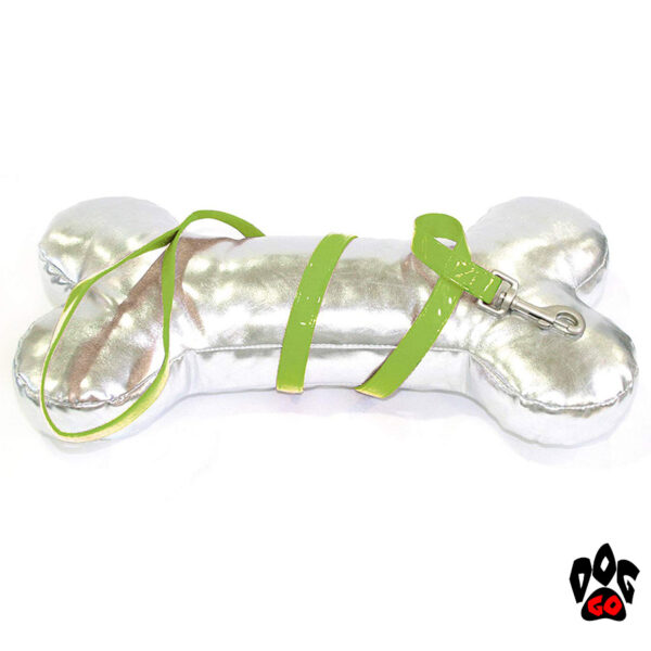 Лакированный поводок для собак CROCI MYLORD из искусственной кожи с нейлоном (салатовый)