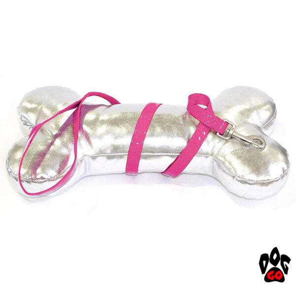 Лакированный поводок для собак CROCI MYLORD из искусственной кожи с нейлоном (Розовый)