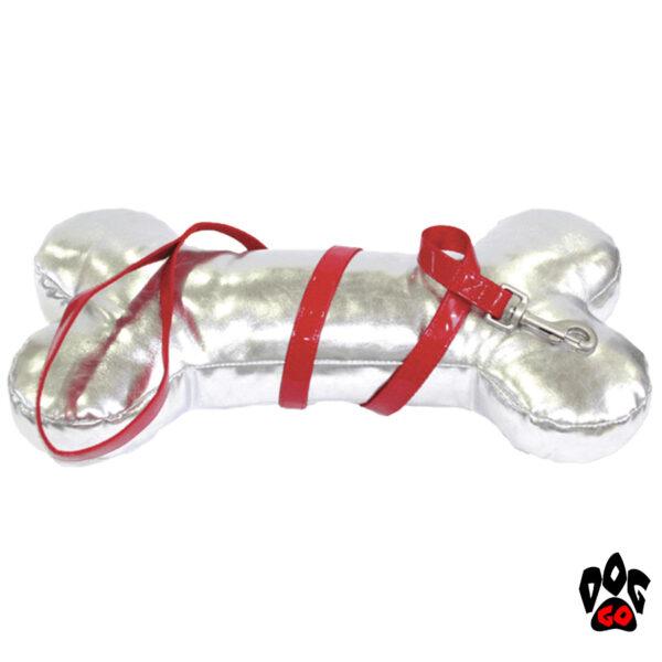 Лакированный поводок для собак CROCI MYLORD из искусственной кожи с нейлоном (красный)