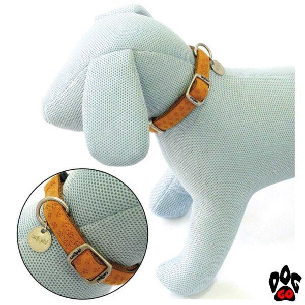 Ошейник для собак CROCI MYLORD из кожзама, регулируемый, с тиснением, оранжевый